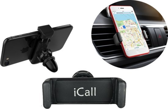 Universele Autohouder Zwart - 360 Graden Draaibaar / Rotatable - Car Mount Holder - Ventilatie Rooster (Apple iPhone / Samsung / Huawei / LG / HTC / Sony Experia / Nokia / HTC / Asus)