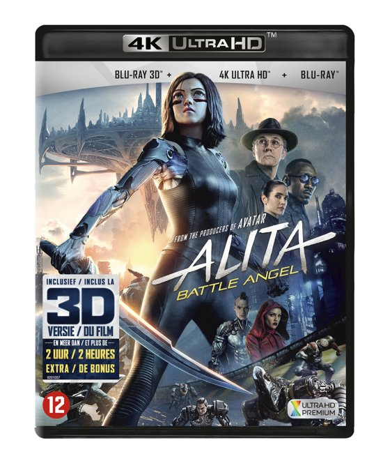 DVD cover van Alita: Battle Angel (4K Ultra HD Blu-ray)