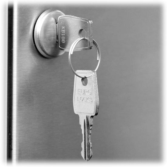 12 - twaalf - personen - adressen - brievenbus - inbouw - RVS - RAL 7016