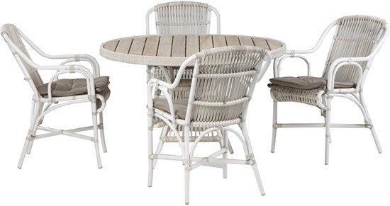 Beste bol.com | 4 Seasons Loire 5-delig tuinset - Loire tafel Ø117 cm WD-29