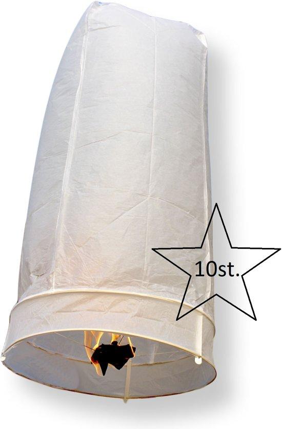 10x witte wensballonnen 50 x 100 cm