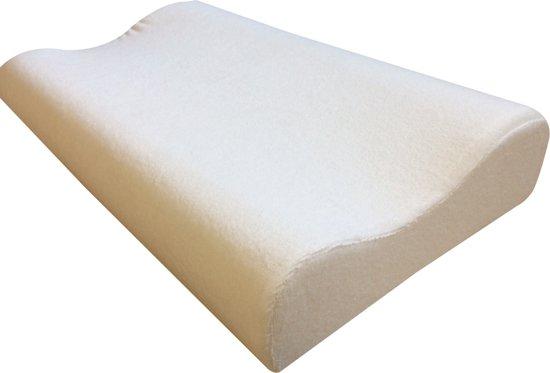 Orthopedisch  Hoofdkussen | Traagschuim / Memory Foam | Ondersteunt Nek en Schouders | 100% polyester | 48x30x10 cmNek Kussen