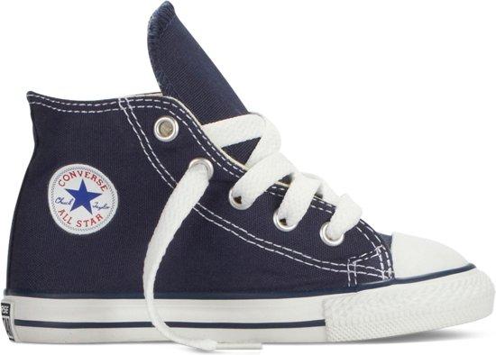 a3858fc2173 Converse Meisjes Sneakers Chuck Taylor All Star Hi Kids - Blauw - Maat 22