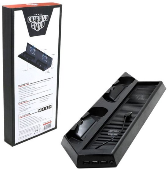 Charging stand voor de PS4 Pro- Oplaadstation met dual ventilator voor je Playstation 4 Pro