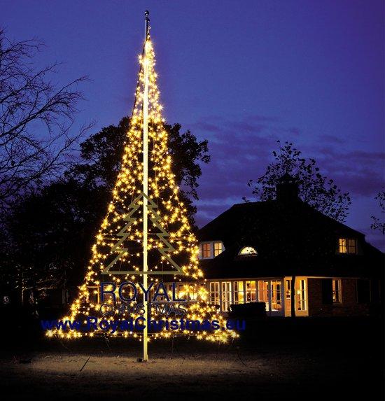 fairybell vlaggenmast kerstboomverlichting lengte 600 cm 960 warm led lampjes