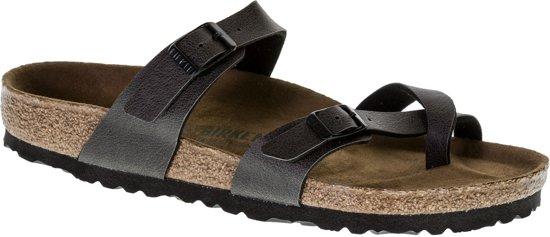 Birkenstock Mayari Slippers - Maat 39 - Vrouwen - antraciet/ bruin