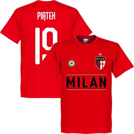 AC Milan Piatek 19 Team T-Shirt - Rood - XXXXL