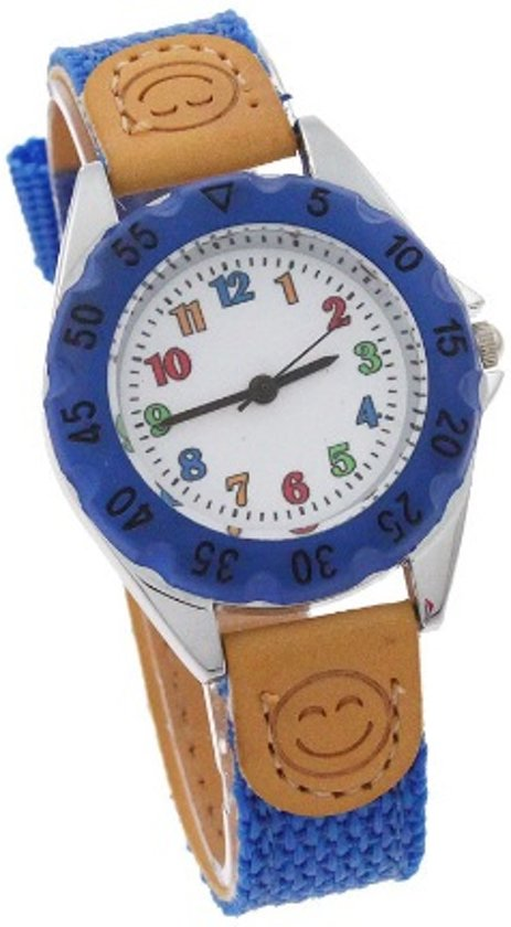 Kinderhorloge blauw Ø 30 mm I-deLuxe verpakking