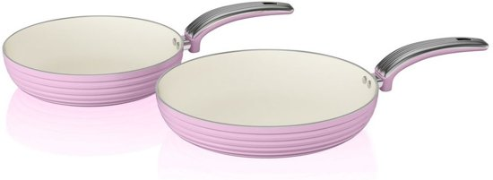 Swan Koekenpannen Set van 2 Roze