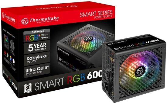 Thermaltake Smart Rgb Power Supply Unit 600 W Atx Zwart