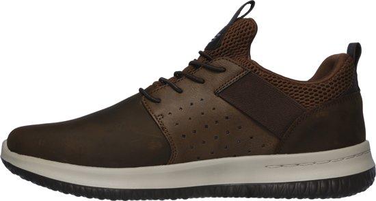 Donkerbruine Slip on Sneakers Skechers Delson Axton