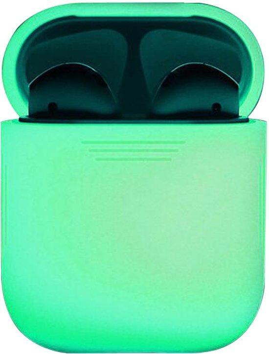 Siliconen Bescherm Hoesje Cover voor Apple AirPods Case - Glow in the dark