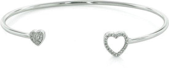 Fate Jewellery Bangle FJ512 - Heart - 925 Zilver - Hartje
