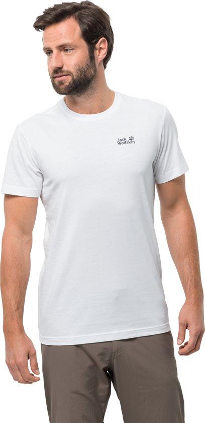 Shirt Essential White Heren Jack Men Wolfskin Rush T IPY5f
