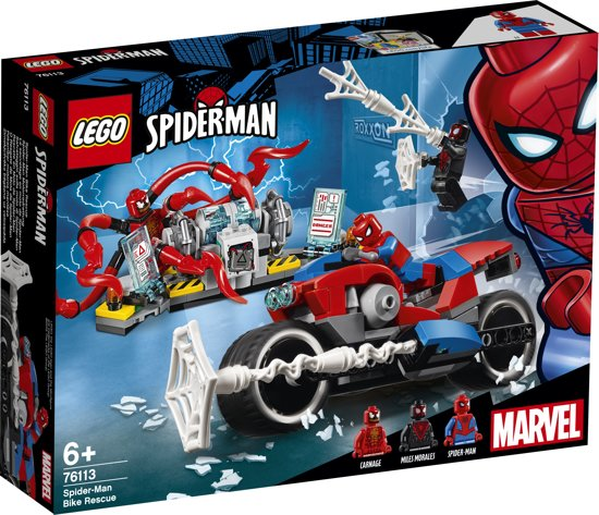 bol lego spider bike reddingsactie 76113