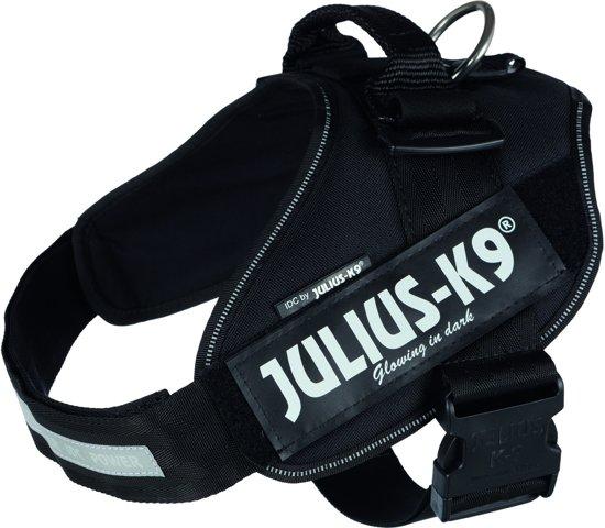 Julius K9 Power-Harnas/Tuig Voor Labels Zwart maat 2/71-91 cm