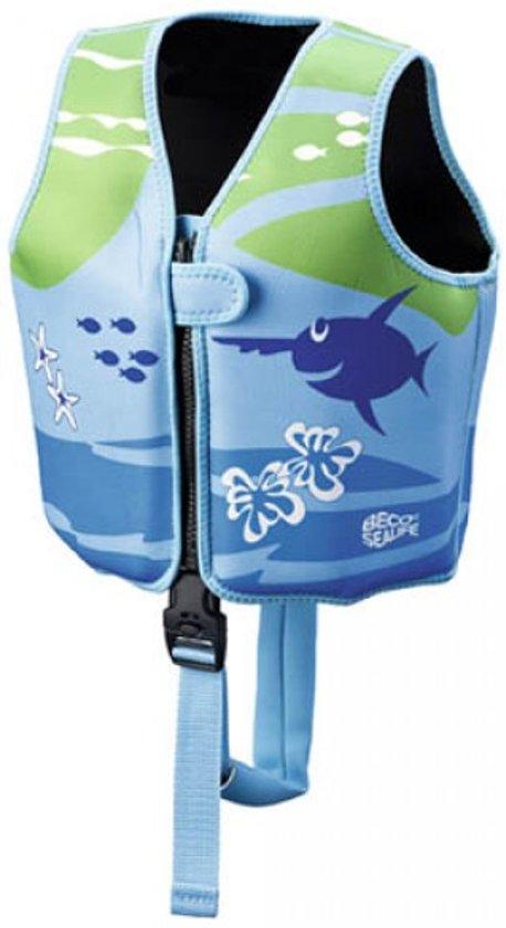 Beco Sealife – Zwemvest kind – Drijfvest voor kinderen van 15-18 kg  – Maat S - Blauw/Groen