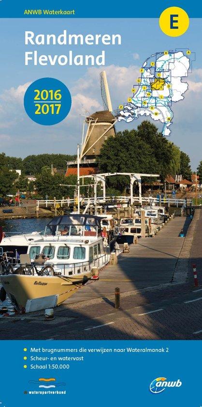 ANWB waterkaart E - Randmeren, Flevoland 2016-2017