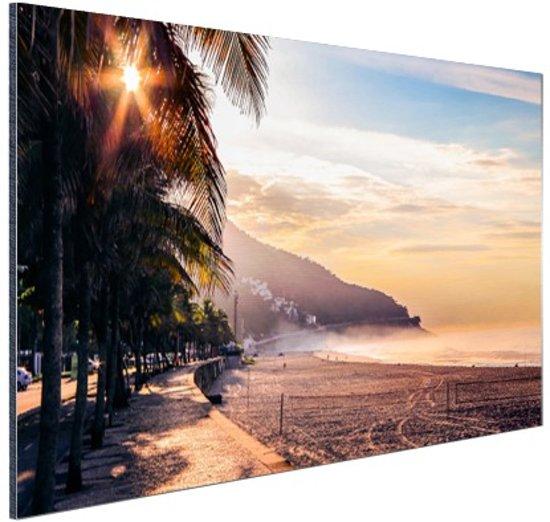 Zonsopgang Brazilie Aluminium 90x60 cm - Foto print op Aluminium (metaal wanddecoratie)