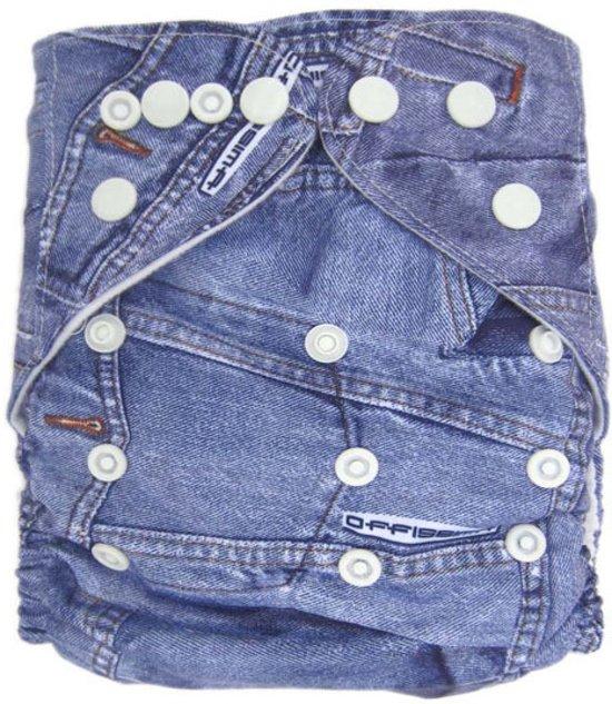 Wasbare pocketluier -  Jeans blauw