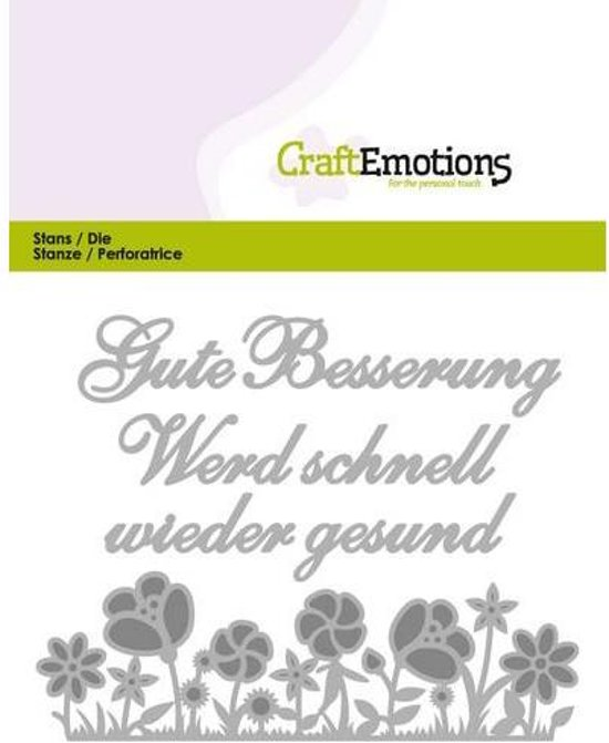 CraftEmotions Mal Tekst - Gute Besserung Duits  Card 11x9cm