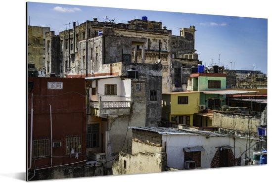Kleurrijke daken in de wijken van Habana Vieja Aluminium 120x80 cm - Foto print op Aluminium (metaal wanddecoratie)