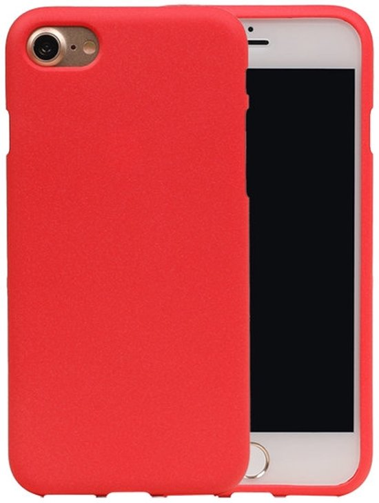 BestCases.nl Rood Zand TPU back case cover hoesje voor Apple iPhone 7 / 8 in Balhofstede