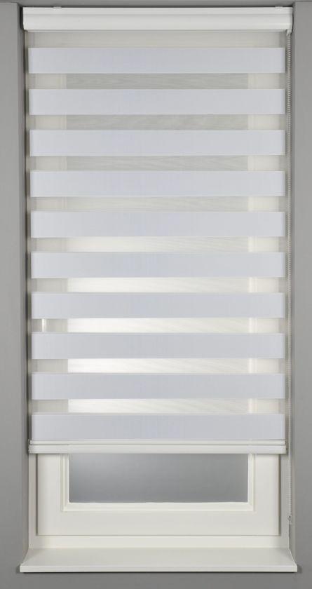 Duo Rolgordijn - Verduisterend - Pure White - 40x175 cm