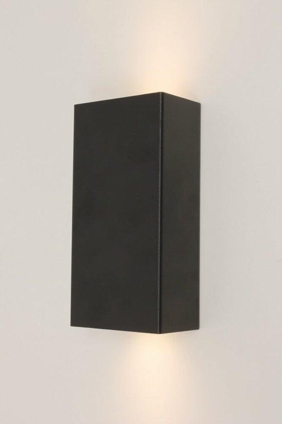 Extreem bol.com | Strakke metalen wandlamp METALLO | Zwart YM83
