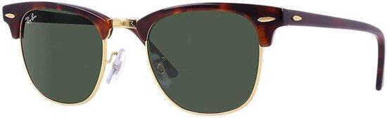 Ray-Ban RB3016 W0366 - Clubmaster (Classic) - zonnebril - Tortoise / Groen Klassiek G-15 - 51mm