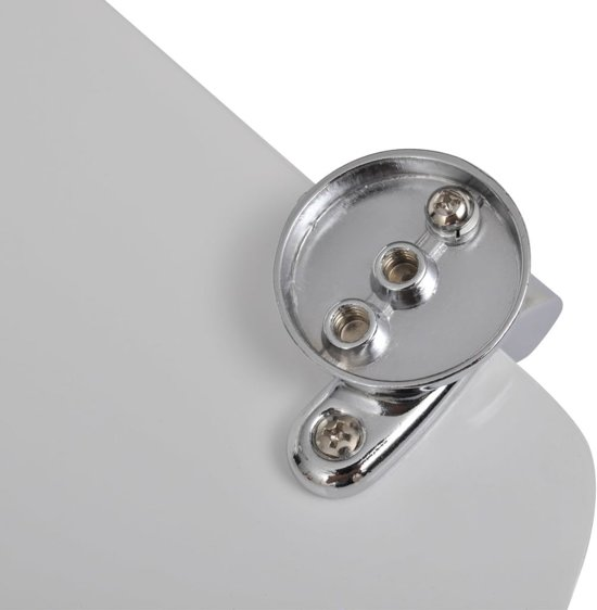 vidaXL WC-bril met MDF deksel en eenvoudig ontwerp wit