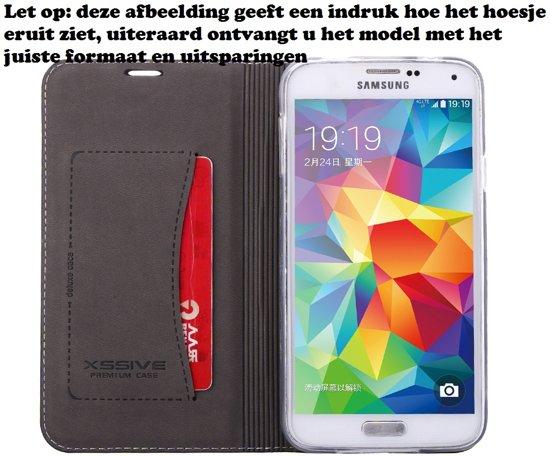 Premium Leren Lederen Leer Hoesje voor Samsung Galaxy S6 Edge Plus G928 Boek Hoesje Book Case Zwart in De Kar