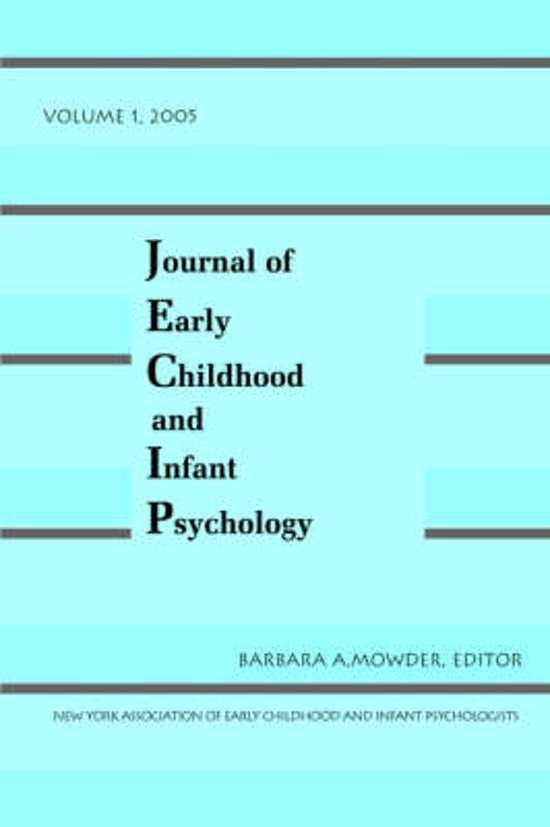 Journal of Early Childhood and Infant Psychology