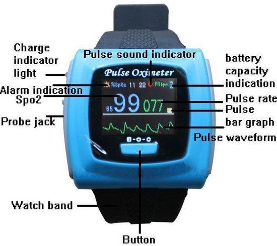 Nieuwe Pols Pulse Oximeter Contec CMS 50 FW BlueTooth Draadloos