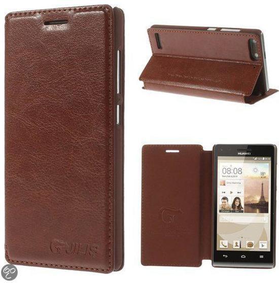 Jilis - Huawei Ascend G6 - British Style Wallet Case Hoesje Bruin