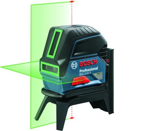Bosch Professional GCL 2-15 G Combilaser - Met RM 1 + 3x 1.5V AA batterijen + richtplaat + klem BM3