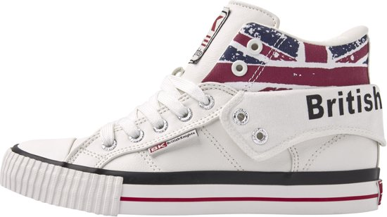British Knights ROCO DAMES SNEAKERS HOOG, WHITE, 41, SYNTHETISCH