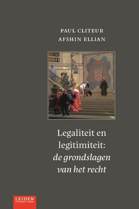 Boek cover Legaliteit en legitimiteit van Paul Cliteur (Paperback)