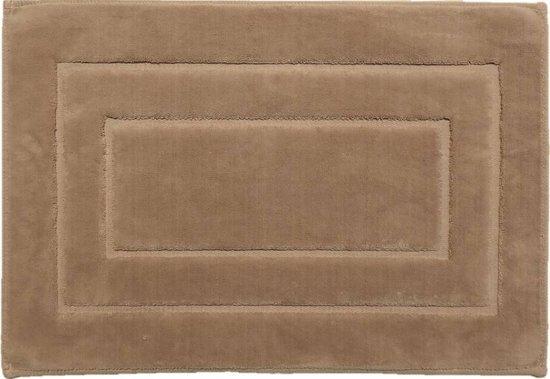 Badmat katoen bruin - 70 x 120 cm