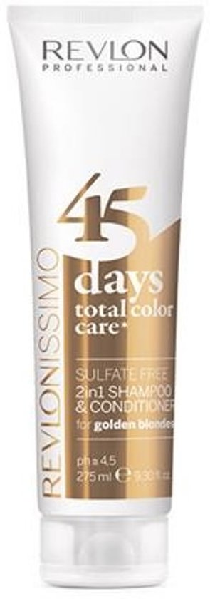 MULTI BUNDEL 4 stuks Revlonissimo Color Care Shampoo And Conditioner 2 In 1 Golden Blondes 275ml