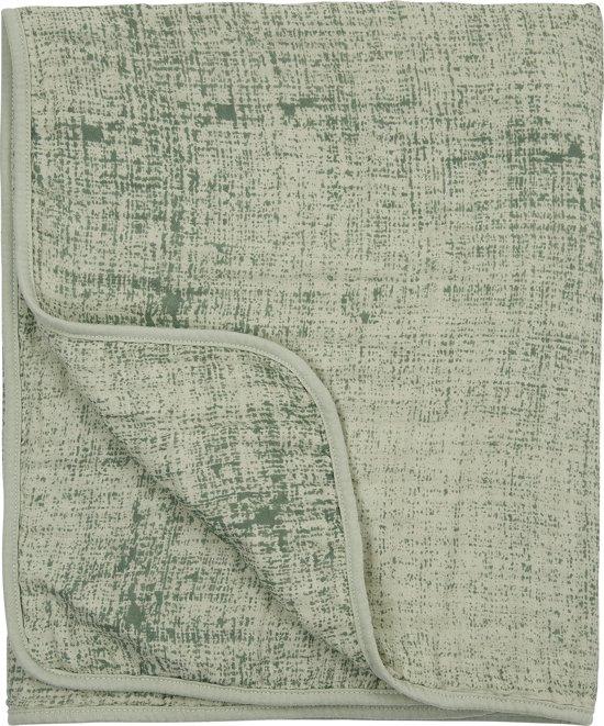 Meyco hydrofiel deken 3-laags Fine lines - 75x100 - forest green/mint