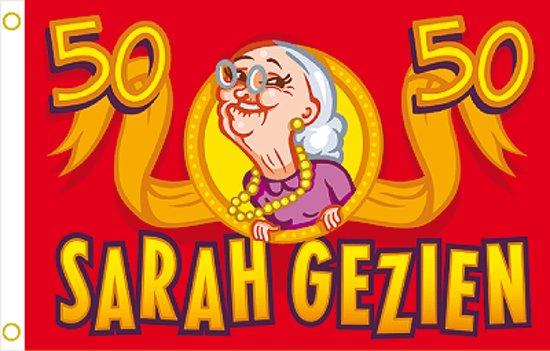 Bekend bol.com | Vlag Sarah 50 jaar BO96