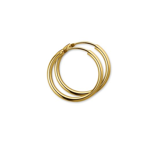 The Jewelry Collection oorringen Ronde Buis - Geelgoud (14 Krt.)