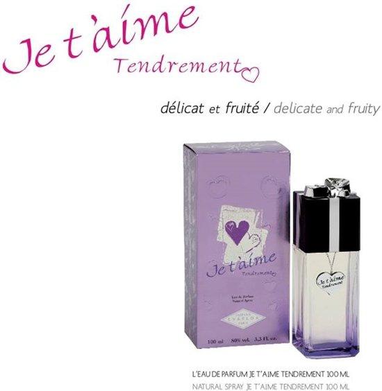 HERFST ACTIE  1+1 GRATIS   Je t'aime Tendrement Dames Parfum ( + 100ML CC Eau de Parfum GRATIS)
