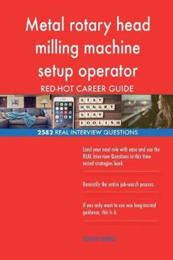 Metal Rotary Head Milling Machine Setup Operator Red-Hot Career; 2582 Real Inter