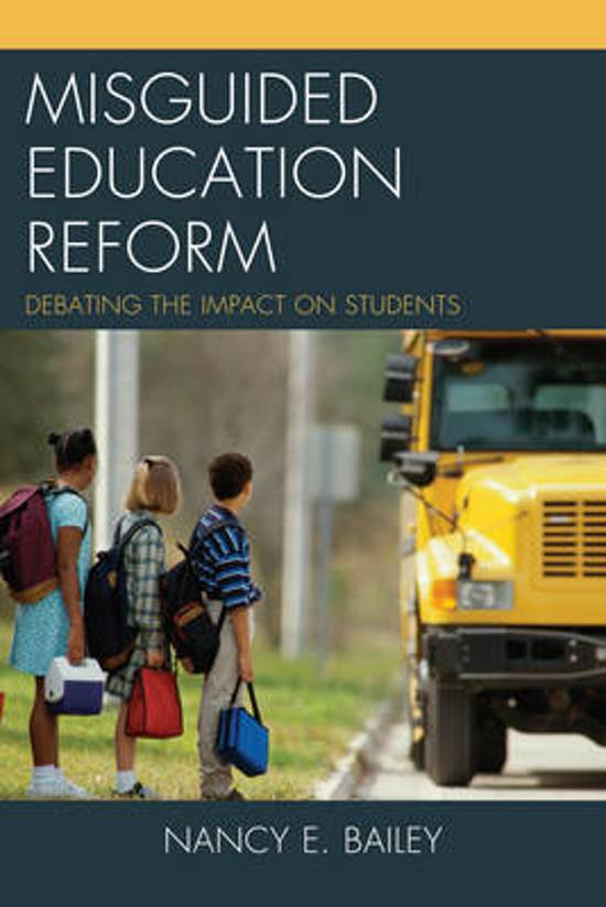 Misguided Education Reform