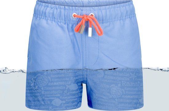 0de61c4f2e5582 bol.com | Ramatuelle Zwembroek Jongens - Magic print Light Blue - 7-8