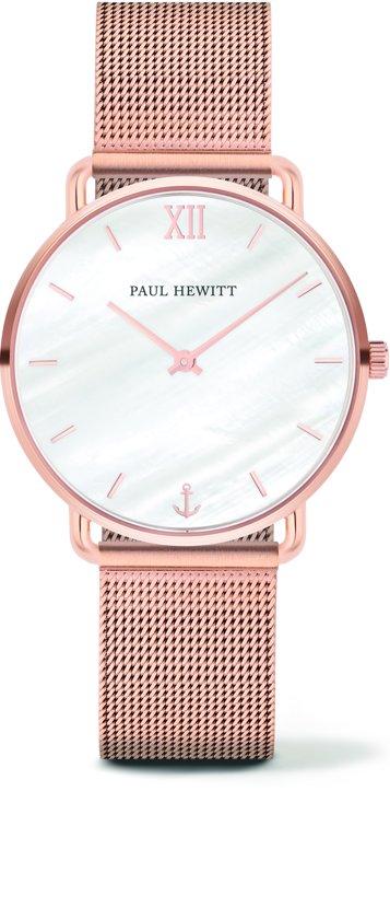 Paul Hewitt Miss Ocean Line PH-M-R-P-4S - Horloge - Staal - Rosekleurig - Ø33mm