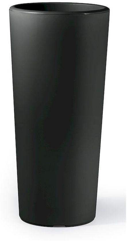 Veca plantenbak 'Clou', rond 30 cm, hoogte 65 cm antraciet