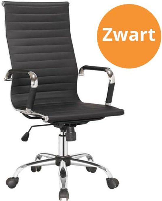 Bureaustoel Zwart Design.Bol Com Executive Design Bureaustoel Zwart